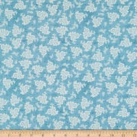 Wilmington Homemade Happiness Floral All Over Teal