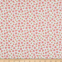Wilmington Pink Garden Small Floral Teal