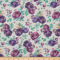 Wilmington Violette Tossed Florals Cream
