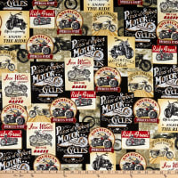 Timeless Treasures Motorcycles For Sale Packed Motorcycle Signs Multi