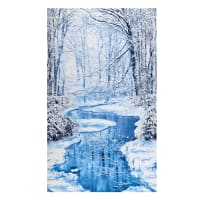 "Timeless Treasures Winter Hike Winter Wonderland 24"" Panel Blue"