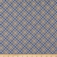 Timeless Treasures Flannel Snow Is Falling Winter Dark Bias Plaid Grey
