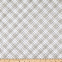 Timeless Treasures Flannel Snow Is Falling Winter Light Bias Plaid Cream