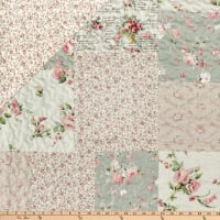 """STOF France 106"""" Doubled Sided Quilt Anabella  Rose"""