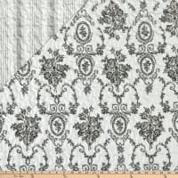 """STOF France 106"""" Doubled Sided Quilt Sissy Gris"""