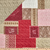 """STOF France 106"""" Doubled Sided Quilt Arkansas Rouge"""