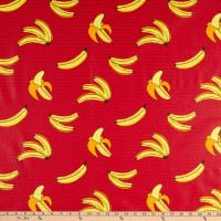 STOF France Plantain Coated Broadcloth Rouge Tablecloth