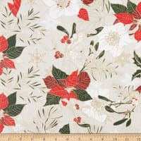 STOF France Flora Coated Broadcloth Tablecloth Rouge