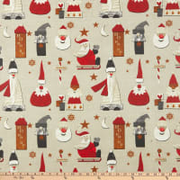 STOF France Noel Coated Broadcloth Ficelle Tablecloth