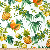 STOF France Citrus-E Coated Broadcloth Vert Tablecloth