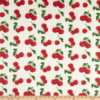 STOF France Cherry Coated Broadcloth Rouge Tablecloth