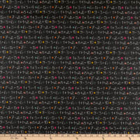 STOF France Add Coated Broadcloth Noir Tablecloth