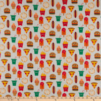 STOF France Snacks Coated Broadcloth Multicolored Tablecloth