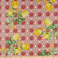 STOF France Gorbio Coated Broadcloth Rouge Tablecloth