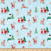 Character Winter Holiday Rudolph & Friends North Pole Blue