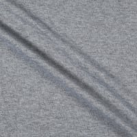 French Terry Knit Brushed Heather Gray