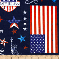 Shannon Studio Digital Minky Cuddle Americana Ink