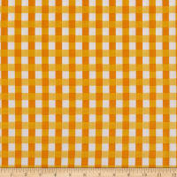 Kaufman Digital Chow Time Plaid Mustard