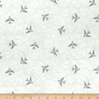 Kaufman Pleasures And Pastimes Airplanes White