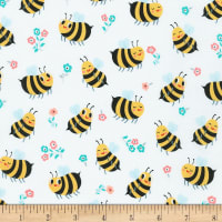 Kaufman Bees Knees Bees And Flowers Bumble Bee