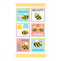 "Kaufman Bees Knees 24"" Panel Bumble Bee"
