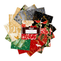 Kaufman Metallic Charm Squares Imperial Collection 42 pcs Onyx