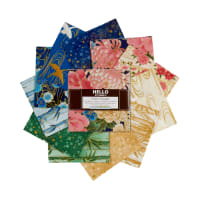 Kaufman Metallic Charm Squares Imperial Collection 42 pcs Spring