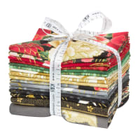 Kaufman Metallic Fat Quarter Bundles Imperial Collection 16 16 pcs Onyx