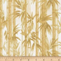 Kaufman Metallic Imperial Collection 16 Bamboo Ivory