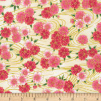 Kaufman Metallic Imperial Collection 16 Flowers Spring