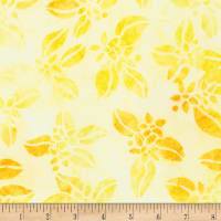 Kaufman Artisan Batik Summer Zest Flowers Yellow