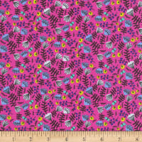 Kaufman Wild And Free Flowers Hot Pink