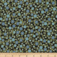 Kaufman Florentine Garden Small Flowers Blue