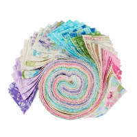 Kaufman Roll Ups Natural Blooms 40pcs Bright