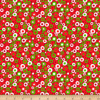 Christmas Basics Festive Polka Dot Christmas Red