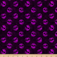 Halloween Basics Bat Dots Purple