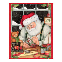 "Susan Winget Christmas Eve Santa 36"" Panel Multi Dark"