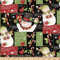 Susan Winget Christmas Hooray For Snow Patch Black