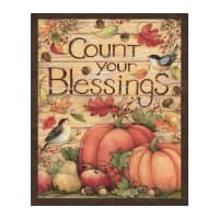 """Susan Winget Harvest Count Your Blessings 36"""" Panel Multi"""