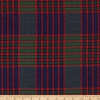 Christmas Mytar Woven Metallic Bold Plaid Blue/Green