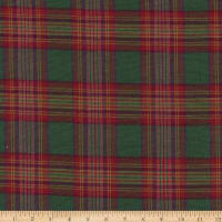 Christmas Mytar Woven Metallic Royal Tartan Green Plaid Green/Gold