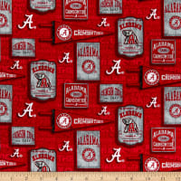 NCAA Alabama Crimson Tide Vintage Pennant Allover Cotton Multi