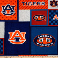 NCAA Auburn Tigers College Patch Fleece Multi