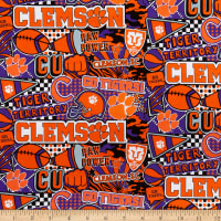 NCAA Clemson Tigers Pop Art Cotton Multi