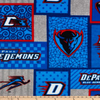 NCAA DePaul Blue Demons College Patch Fleece Multi