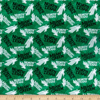 NCAA North Texas Mean Green Tone On Tone Cotton Multi