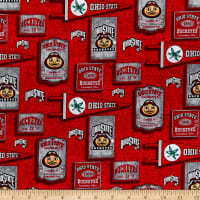 NCAA Ohio State Buckeyes Vintage Pennant Cotton Multi