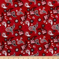 NCAA Oklahoma Sooners Cotton Paisley Multi