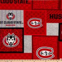 NCAA St. Cloud Huskies College Patch Fleece Multi