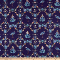 Clothworks By The Seashore Toile Light Navy